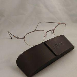 SILHOUETTE Rx Eyeglasses Metal Frames Half Rim
